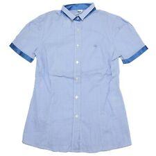 A0432 camicia donna FAY manica corta blu shirt sleeveless woman