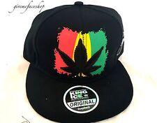Mens weed snapback caps, black weed baseball hats, hip hop cannabis, marijuana