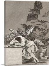 The Sleep of Reason Produces Monsters 1799 Canvas Art Print by Francisco De Goya