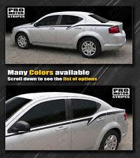 Dodge Avenger 2008-2014 Javelin Side Accent Stripes Decals (Choose Color)