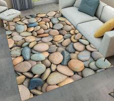 Rustic Gravel Cobblestone Bedroom Area Rugs Living Room Floor Mat Soft Carpets