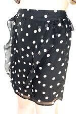Darling Black Cream Spotty Eleanor Skirt S-XL UK 10-16 Frilled Polka Dot