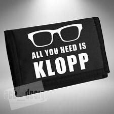 Jurgen Klopp Wallet All You Need Is KLOPP Liverpool German Funny Glasses Footy
