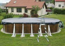 Abdeckplane mit Spannschloss für Schwimmbad Ovalpool, Abdeckung, Winterplane
