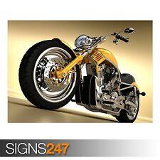 Motocicleta 3D (AC370) Bicicleta Poster-FOTOS arte cartel impresión A0 a A4