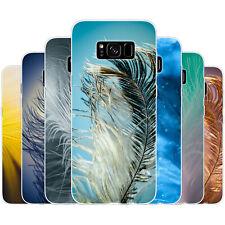 dessana Close Up Federn Silikon Schutz Hülle Case Handy Tasche Cover für Samsung