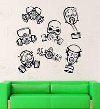 Wall Decal Gas Mask Danger Decor Vinyl Stickers Art Mural (ig2593)