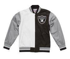 NEW Split Oakland Raiders Super Bowl XVIII NFL Mitchell & Ness Warm Up Jacket