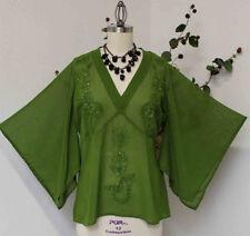 Pegasus Silk  Designer Embroidery Sequin Work Plus n Regular Size Poncho