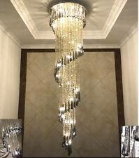 LED  Modern Crystal Stair Chandelier Living Room Lamp Ceiling Light Fixtures