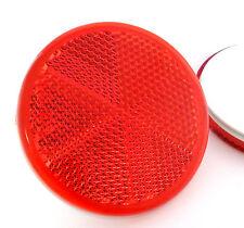 2x Adesivo Adesive Rosso Rotondo Circolare Rimorchio Caravan riflettori 60mm