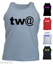 tw@ computer slogan geek funny Tank Top Vest