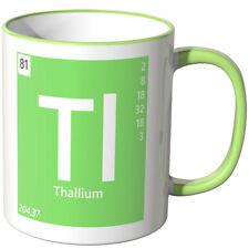 """WANDKINGS Tasse Periodensystem """"Tl - Thallium"""" ver. Farben Geschenk Chemie"""