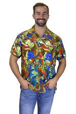 Funky Camisa Hawaiana Jungle Naranja