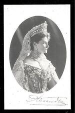 Czarina Alexandra Feodorovna rppc Autograph Russia 1906