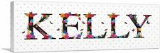 ARTCANVAS KELLY Girls Name Room Decor Canvas Art Print