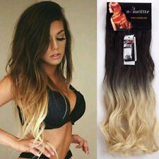 Style Ombre Perücke Hair Extensions Haarteil Clip In Haarverlängerung Synthetik