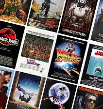 Classic Vintage carteles de cine-A4 A3 A2-HD Impresiones-Jurassic Park, mandíbulas, et