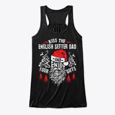 Kiss English Setter Dad Christmas Tee Bella Flowy Tank Tanktop