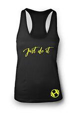 Just Do It Camiseta de Gimnasio Mujer Espalda Nadador Yoga Ejercicio tirantes