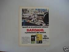 advertising Pubblicità 1972 olio BARDHAL MOTOR OIL