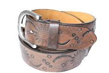Tribal Fleurs Western Style Motard Cuir de ceinture Belt g10064