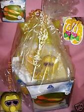 BABY SHOWER Maternity Girl Gift BASKET Yellow Cat Chair