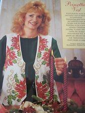 Poinsettia Vest Christmas Magazine Cross Stitch Pattern