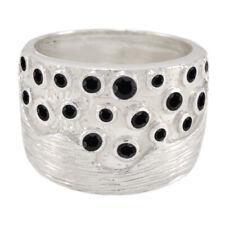 schwarzer Onyx Ring - 925 Sterling Silber Ring - schwarzer Ring  Baby Schmuck DE