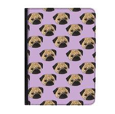 """Pug Lilac Puppy Perro Divertido Universal Life 9-10.1"""" Funda para Estuche Abatible de Cuero"""