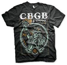 Officially Licensed CBGB- Statue of Underground Rock Men's T-Shirt S-XXL Sizes