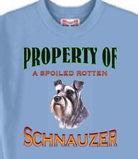 Big Dog T Shirt - Property of a Spoiled Rotten Schnauzer # 432 Men Women Adopt
