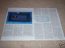 Nakamichi 1000 ZXL Review, 2 pgs,1981,Full Test, Rare!