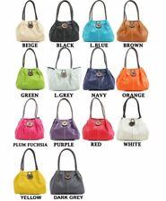 Womens/Ladies Designer Button Shoulder Bag, Twin Large Shoulder Handles