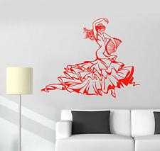 Vinyl Wall Decal Hot Sexy Flamenco Dance Dancer Woman Stickers (1371ig)
