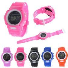 KIDS CHILDREN BOYS GIRLS LCD TIME DIGITAL DISPLAY SILICON GEL SPORT WRIST WATCH