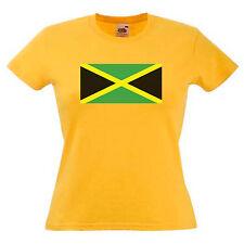 Jamaica Flag Ladies Lady Fit T Shirt 13 Colours Size 6 - 16