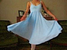 Professional adult lady ballet romantic dance long leotard dress - New