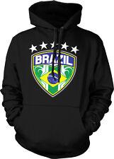 Brazil Brasil Soccer Football Shield Stars Emblem Flag Futbol Hoodie Pullover