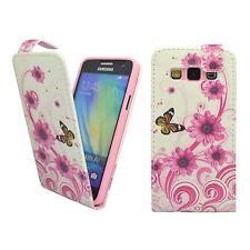Samsung Galaxy A5 blanca y rosa espiral flor mariposa Diseño Impreso