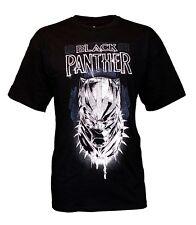 Official Marvel Comics MCU Men's White Black Panther Wakanda Black T-Shirt