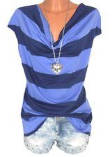 AJC Shirt Longshirt Oversize Streifen blau Gr. 36 38 40 42 44 46 48 NEU - S48