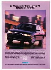 1996 MAZDA 626 Cronos V6 Vintage Original Print AD Black car photo speed Canada