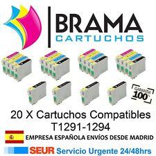 20 X COMPATIBLES NON OEM PARA EPSON Office T1291-94 BX305FW BX305F BX306FW +