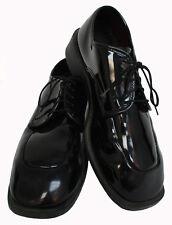 Men's Tuxedo Shoes Black Square Toe Lace Up Formal Wedding Prom Mason Cruise