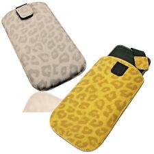 Handy Deko Tasche Animal Print  mit Ausziehhilfe  Cover Case  Hülle - Auswahl 3