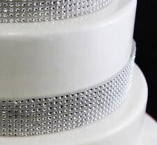 SILVER Diamante Bling Sparkling DIAMOND Effect Wedding Cake Craft Ribbon BOGOF