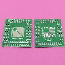 QFP/TQFP/LQFP/FQFP to DIP PCB Adaptateur Board Convertisseur 2.54 mm 32/44/64/80/100 broches