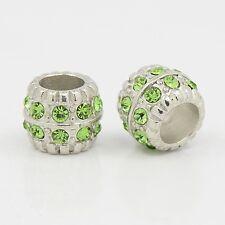 Grande agujero perla joyas perlas bastelperlen European beads piedra natural metal pedrería