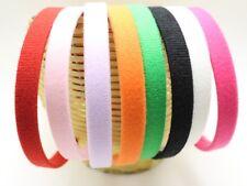 8 Velvet Look Fabric Covered Alice Hair Band Headband 15mm Hair Accessory